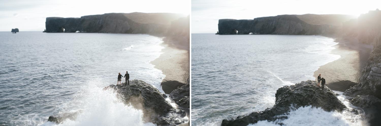 cliffs near Vik black sand beach