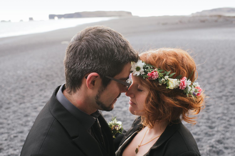 Iceland wedding photography elopement at Skogarfoss waterfall