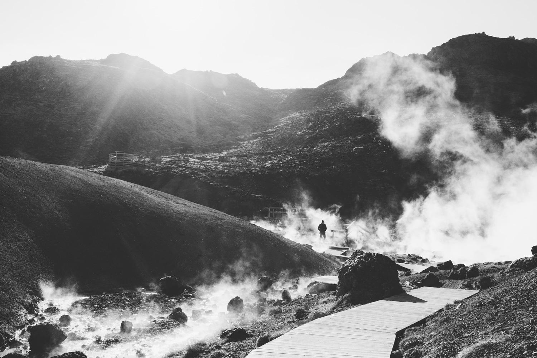 Iceland Geyser Seltun Hot Springs