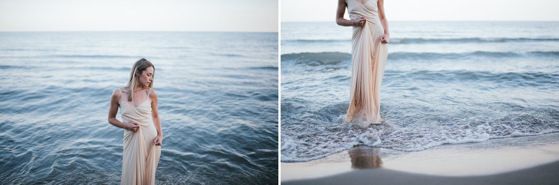 boho beach sunset portrait session