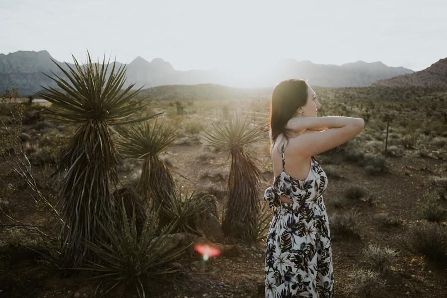 red rock, las vegas, nevada, sunset, desert, portrait