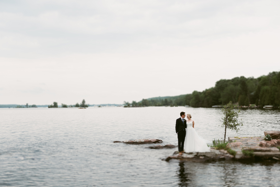 waterfront cottage wedding peterborough ontario
